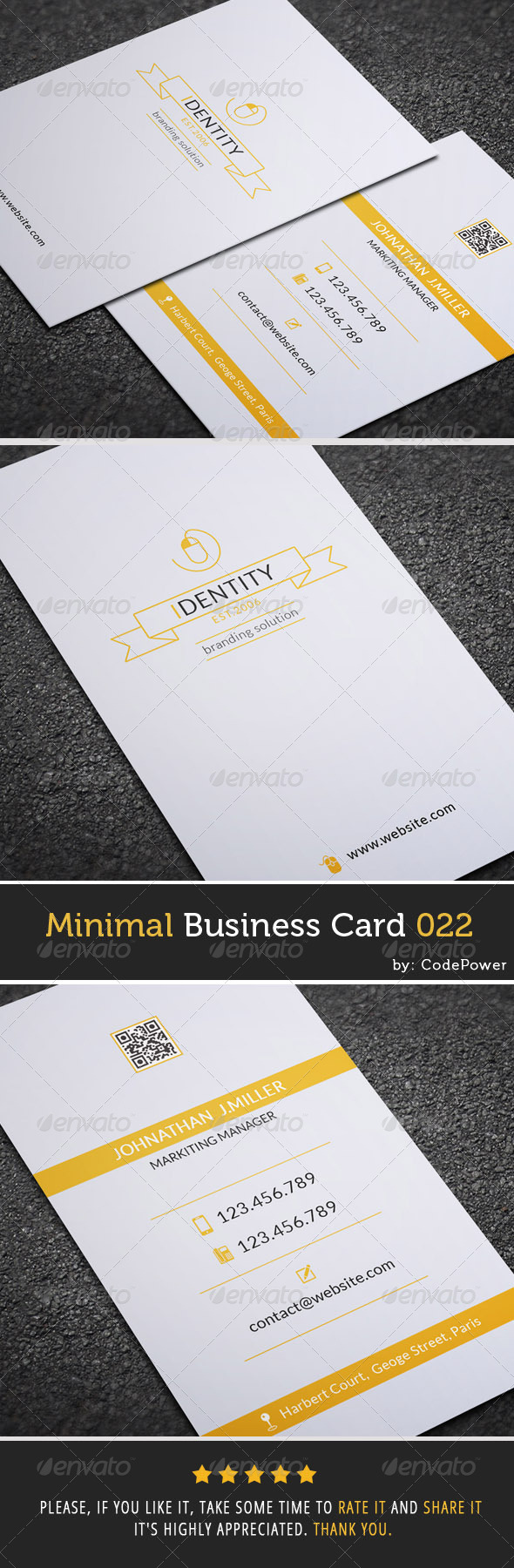 GraphicRiver Minimal Business Card 022 7592481