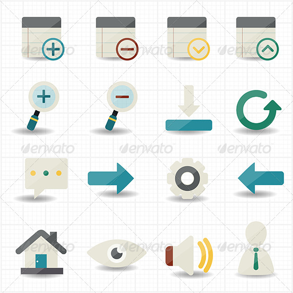 GraphicRiver Internet Web and Mobile Icons 7592506