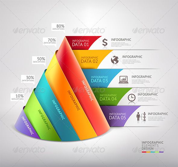 GraphicRiver Business Cone Infographic Template 7592604