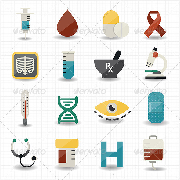 GraphicRiver Medical and Health Care Icons 7592630