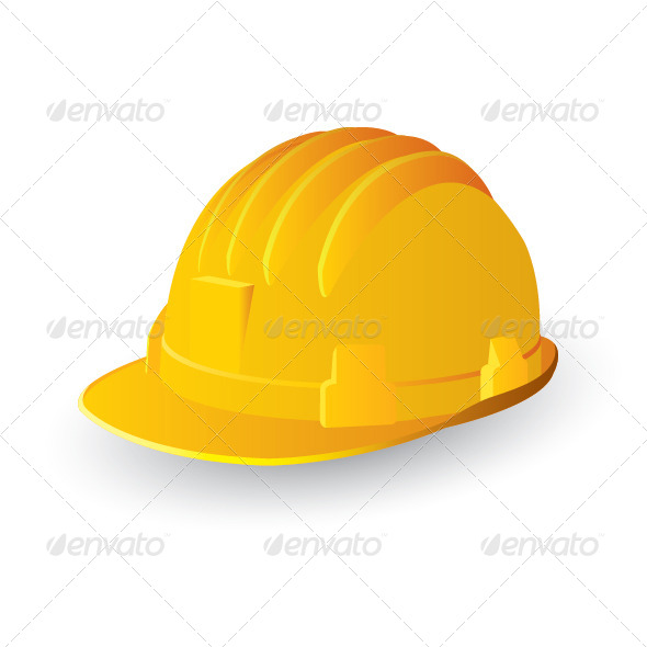 GraphicRiver Yellow Safety Hard Hat 7592640