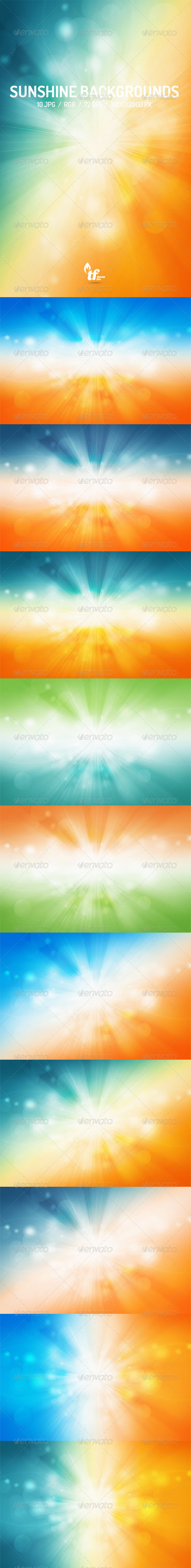 GraphicRiver Sunshine Backgrounds 7592985