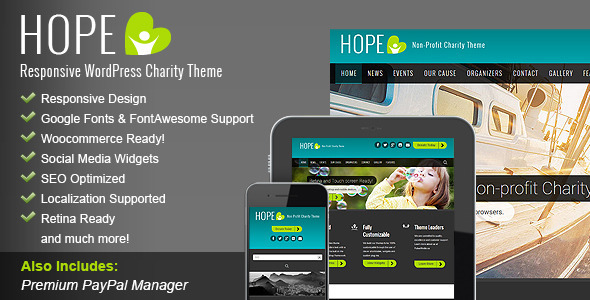 HOPE - Responsive WordPress Charity Theme - WordPress