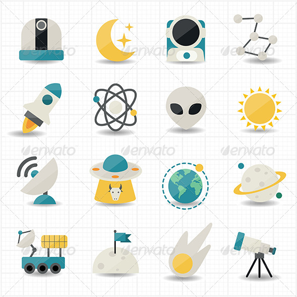 GraphicRiver Universe and Space Icons 7593332