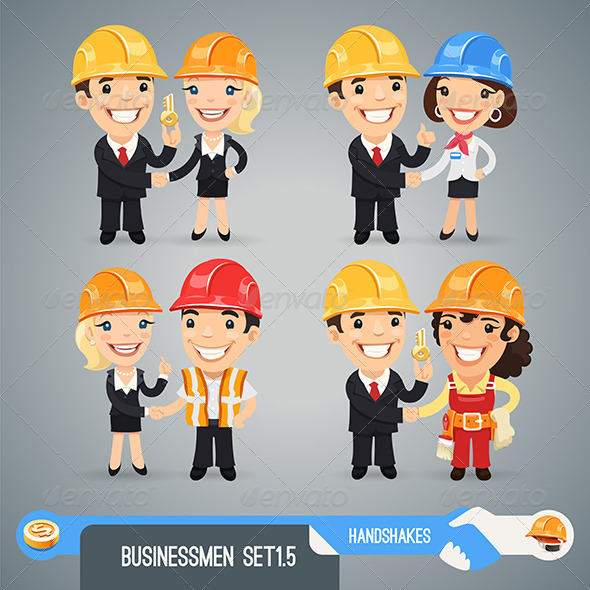 GraphicRiver Businessmen Cartoon Characters Set 1.5 7591467