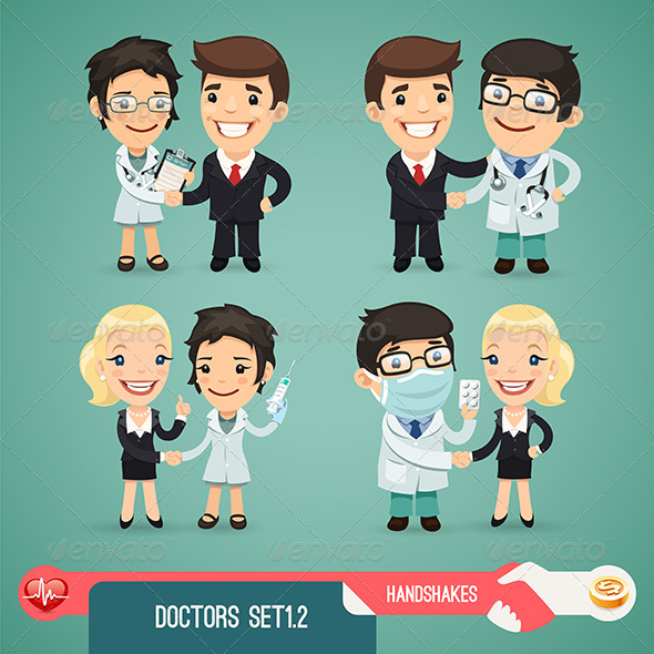 GraphicRiver Doctors Cartoon Characters Set 1.2 7591462