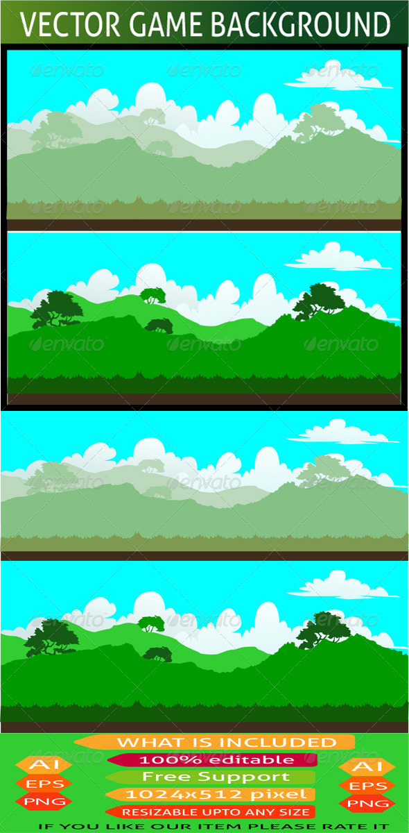 GraphicRiver Nature Game Background 03 7593373