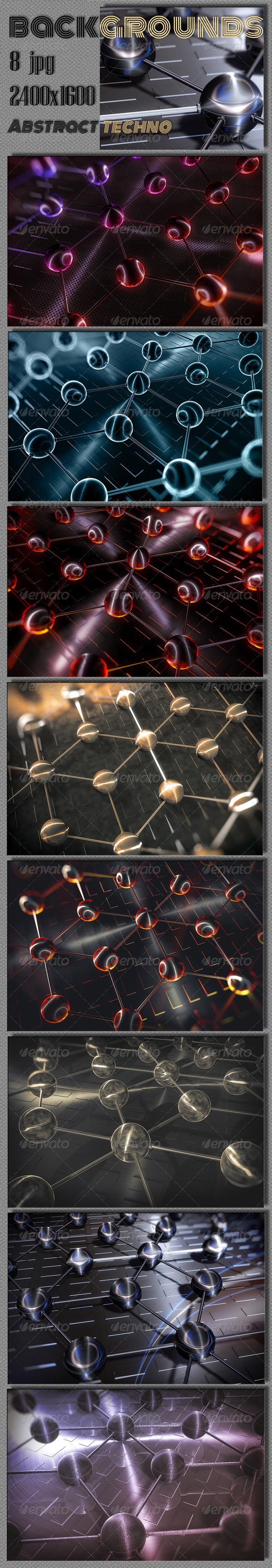 GraphicRiver Techno Abstract Spheres Wallpaper 7593382