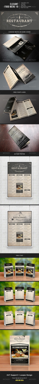 Elegant Food Menu 10 - Food Menus Print Templates