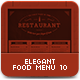 Elegant Food Menu 10 - GraphicRiver Item for Sale