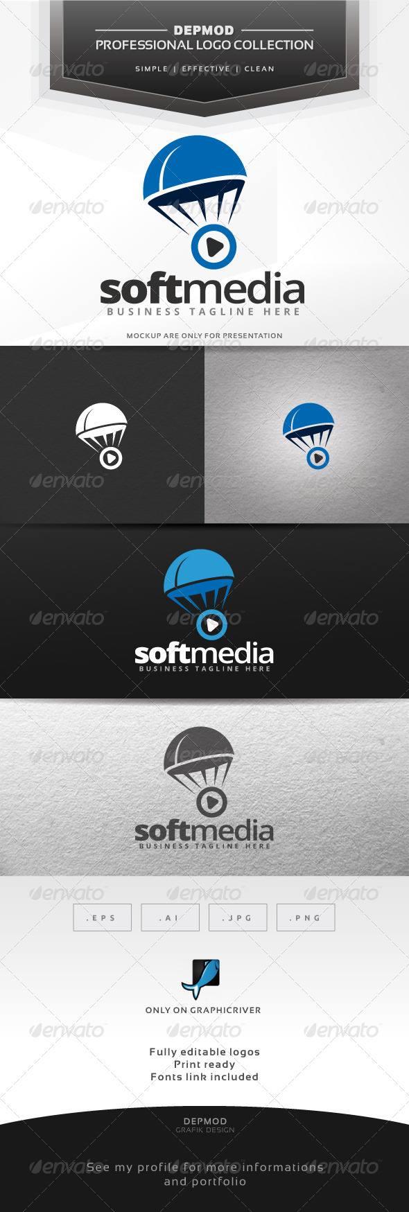 GraphicRiver Soft Media Logo 7593442