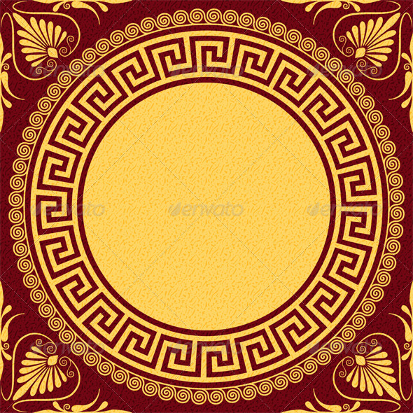 GraphicRiver Traditional Vintage Gold Greek Ornament 7593645