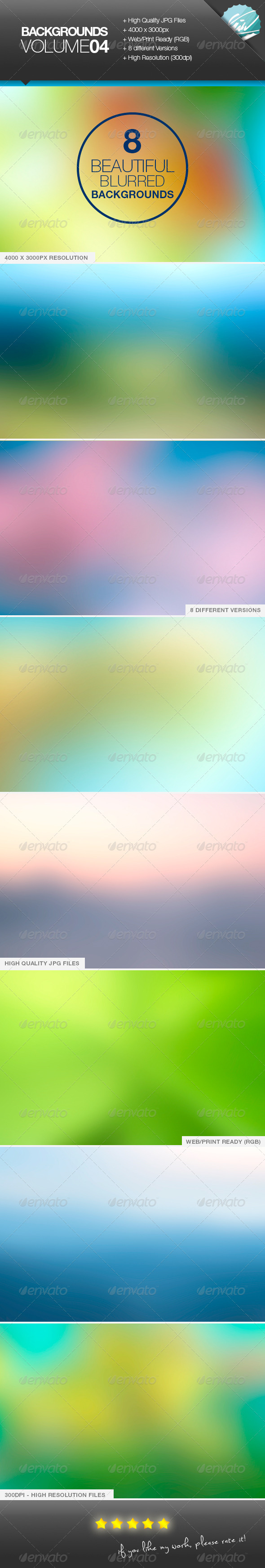 GraphicRiver Backgrounds Volume04 Blurred 7594317