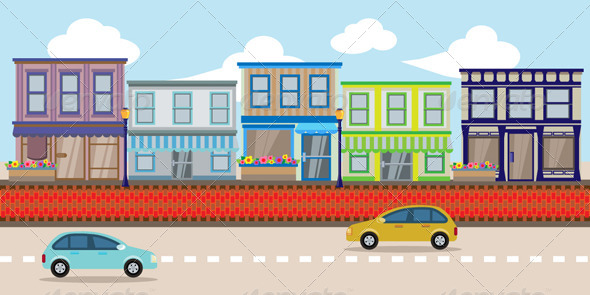 GraphicRiver Urban Street Shop 2D Background 7581463