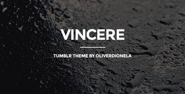 ThemeForest Vincere Business Tumblr Theme 7414016