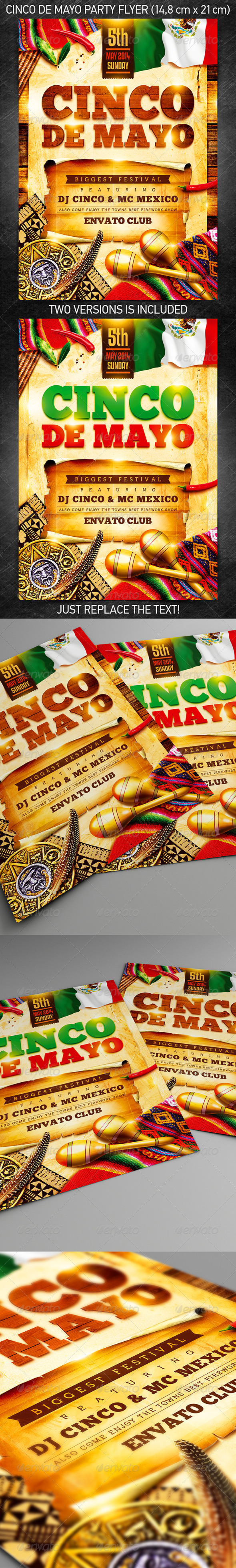 Cinco de Mayo Party Flyer Vol.2 - Holidays Events