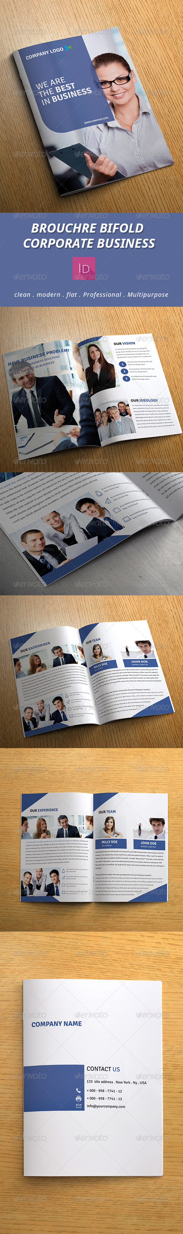 GraphicRiver Brouchre Bifold Corporate Business 7586071