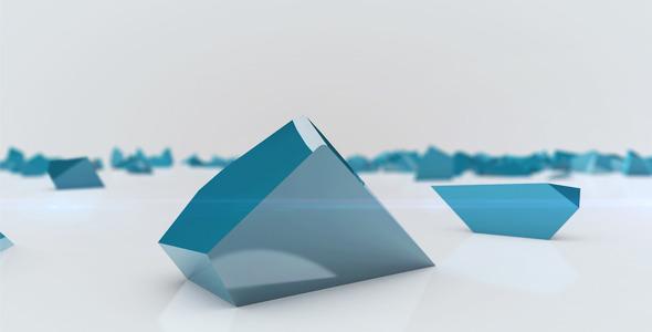 AE模板:简洁干净三维破碎方块 快速拼合汇聚logo 公司片头开场 电视栏目包装模板