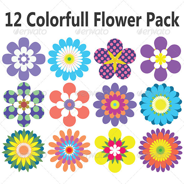 GraphicRiver Flowers Pack 7584227