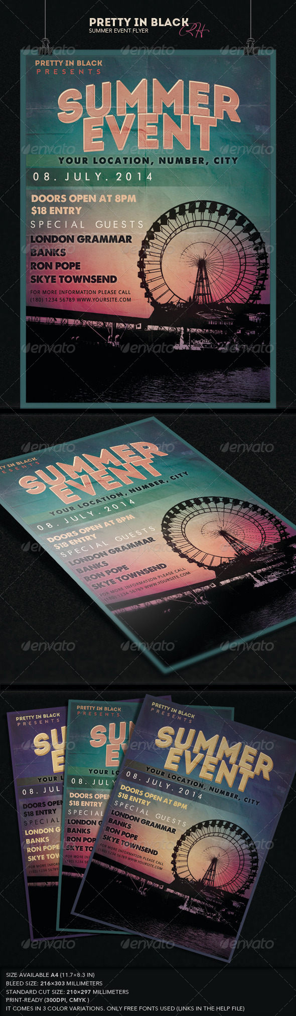 GraphicRiver Summer Event Flyer 7595157