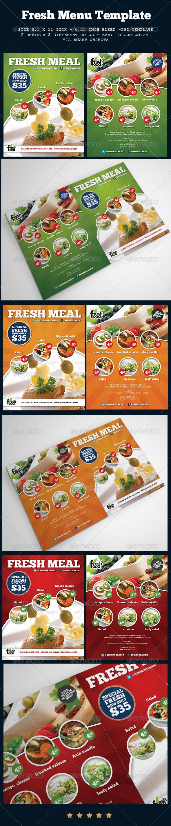 GraphicRiver Fresh Menu 7595387
