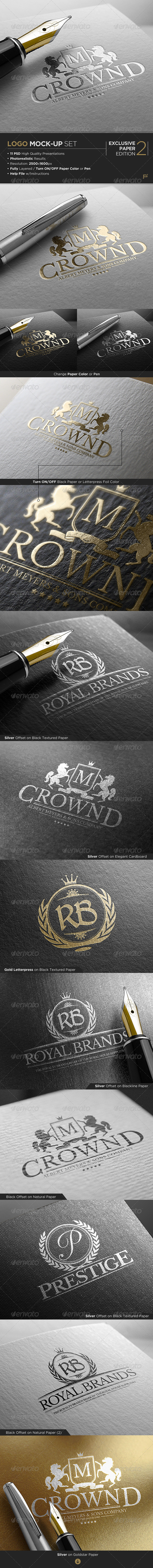 GraphicRiver Logo Mock-Up Exclusive Paper Edition 2 7595562