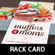 Muffins for Moms Event Rack Card Template - GraphicRiver Item for Sale