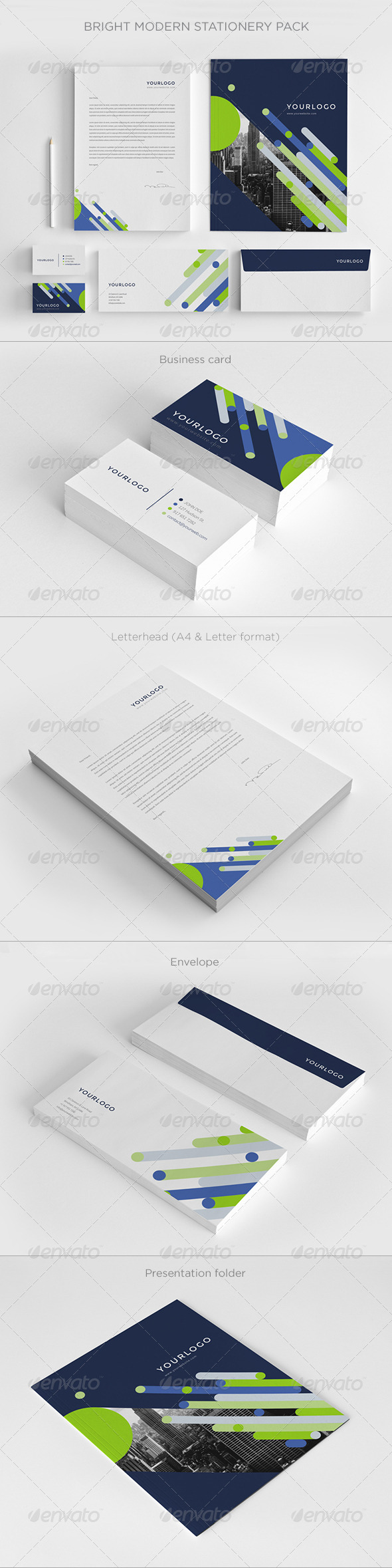 GraphicRiver Bright Modern Stationery Pack 7596124