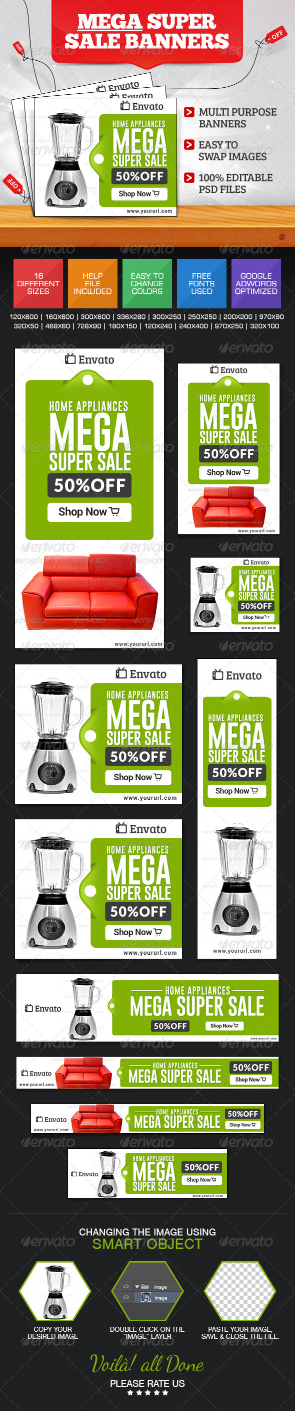 GraphicRiver Super Sale Banner Set 7596351