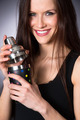 Young Attractive Female Bartender Smiling Mixes Martini Drink  - PhotoDune Item for Sale