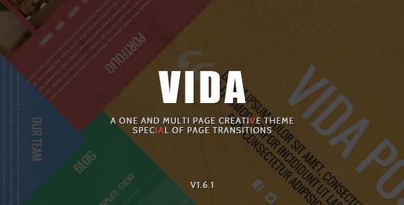 Vida - Responsive Creative WordPress Theme - Creative WordPress