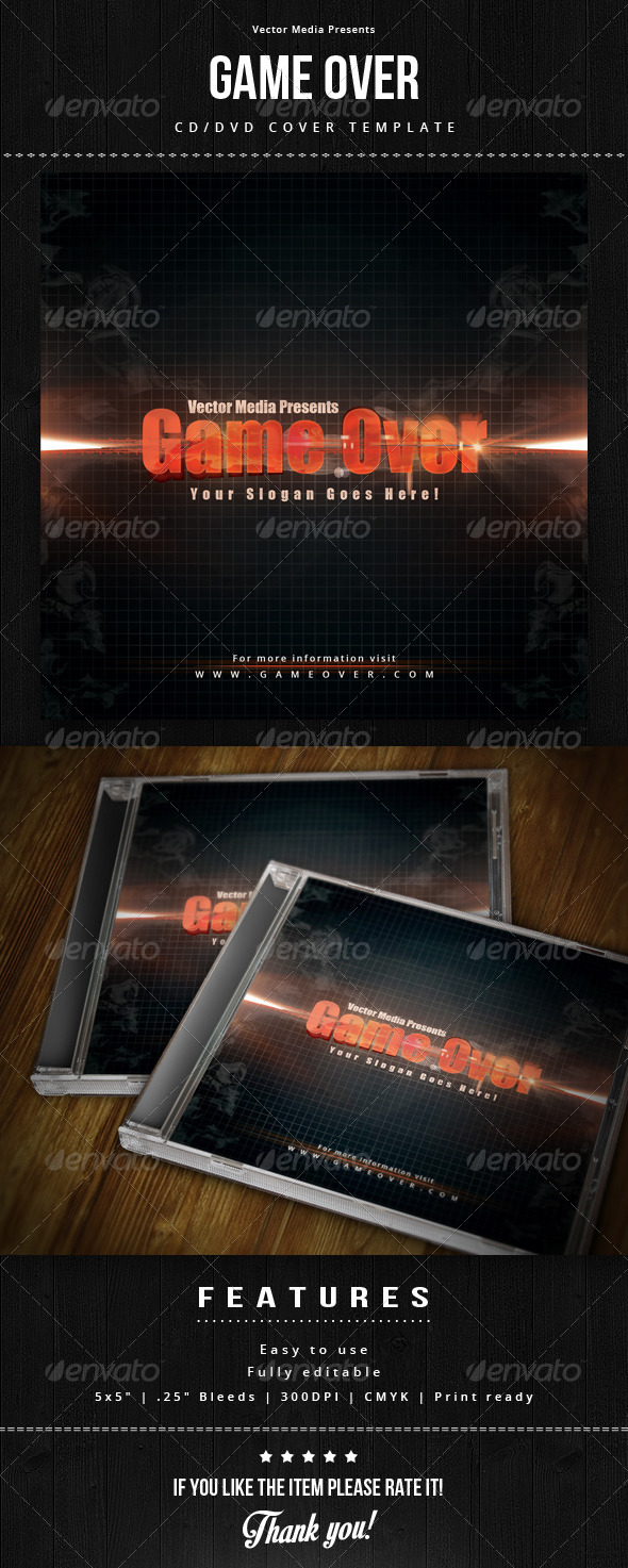 GraphicRiver Game Over Cd Cover 7596438