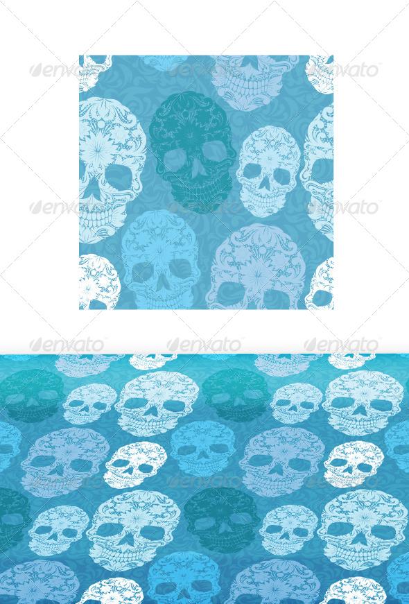 GraphicRiver Skull Pattern Classic 7596573