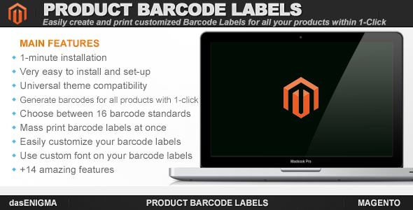 CodeCanyon Product Barcode Labels for Magento 7596614