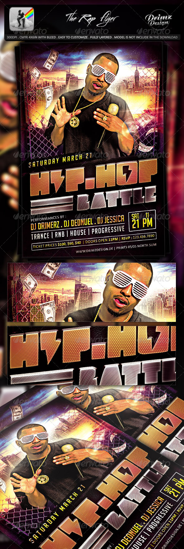 GraphicRiver The Rap Flyer 7593488
