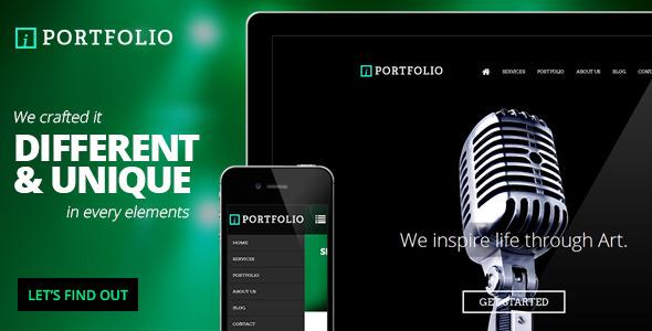 iPortfolio - Onepage Responsive Photography Theme