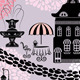 Seamless Fairy Tale House Pattern