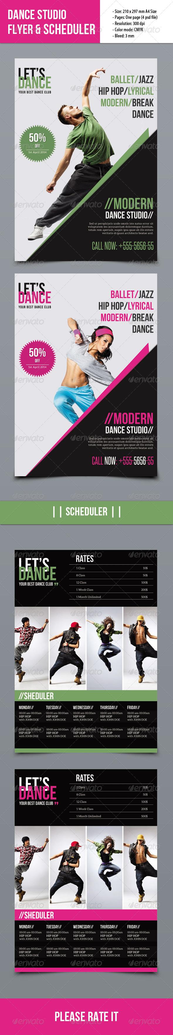 GraphicRiver Dance Studio Flyer 7596852