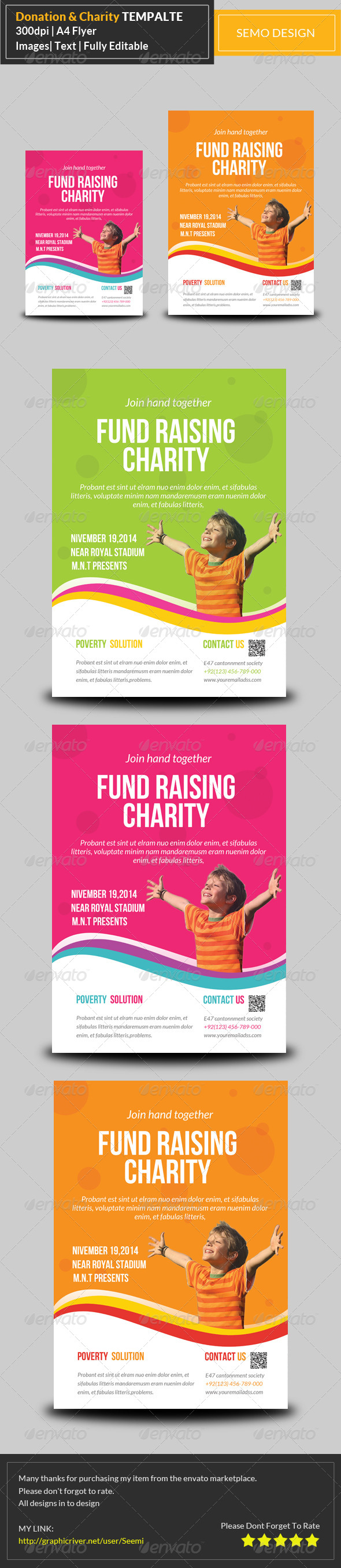 GraphicRiver Charity & Donation Flyer Template 7596875
