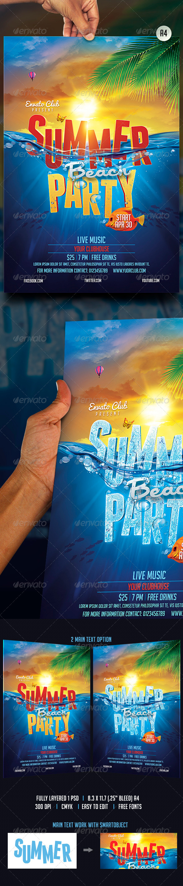 GraphicRiver Summer Beach Party 7596974