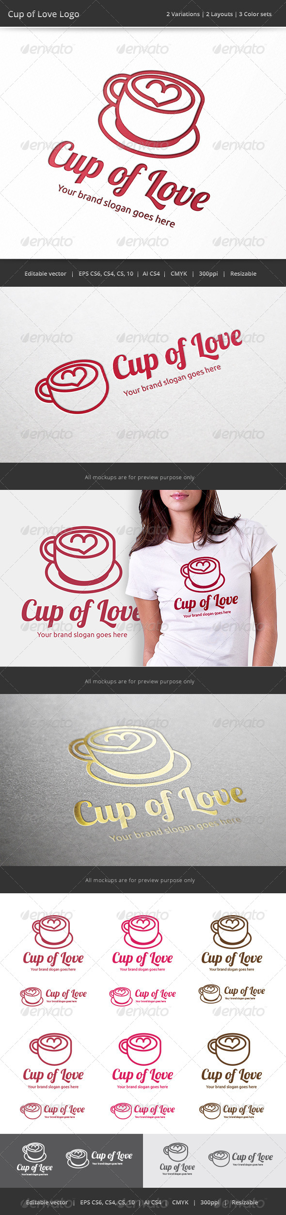 GraphicRiver Cup of Love Coffee Logo 7597271