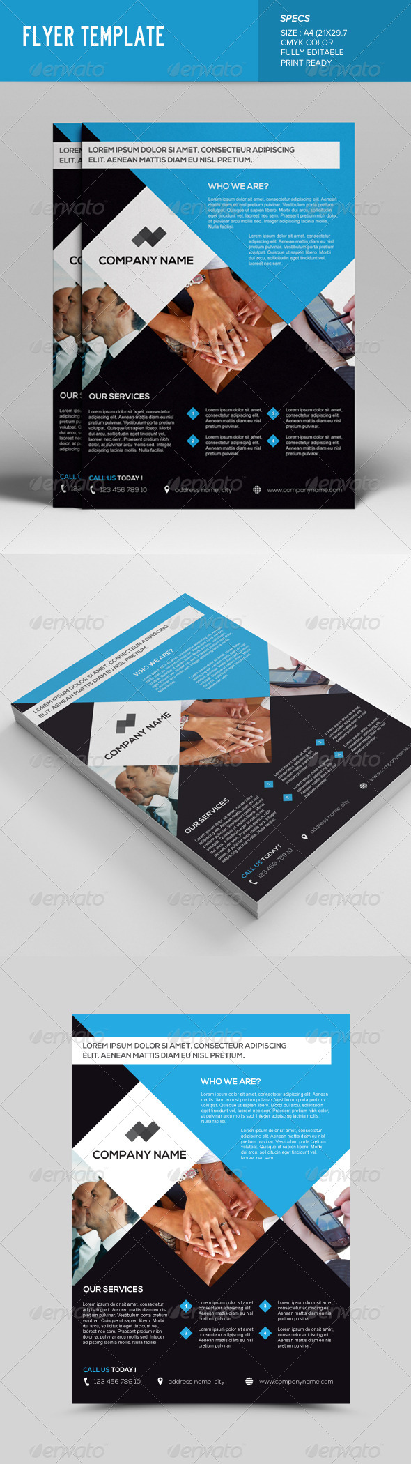 GraphicRiver Corporate Flyer Template 7593623