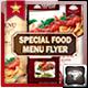 Special Food Menu Flyer