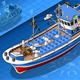 Isometric Fishing Boat Isolated in Front View - GraphicRiver Item for Sale
