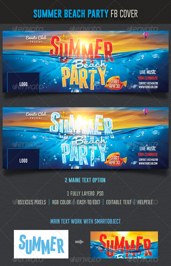 GraphicRiver Summer Beach Party Facebook 7598085