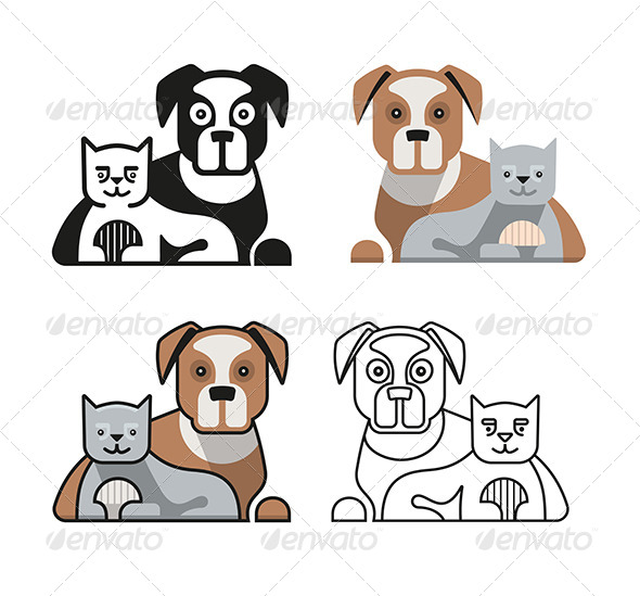 GraphicRiver Dog and Cat Together 7598254