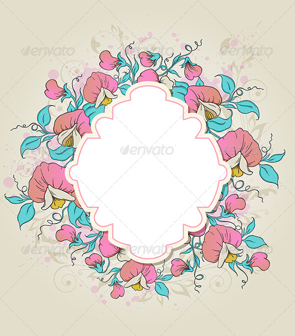 GraphicRiver Label and Sweet Pea 7598269