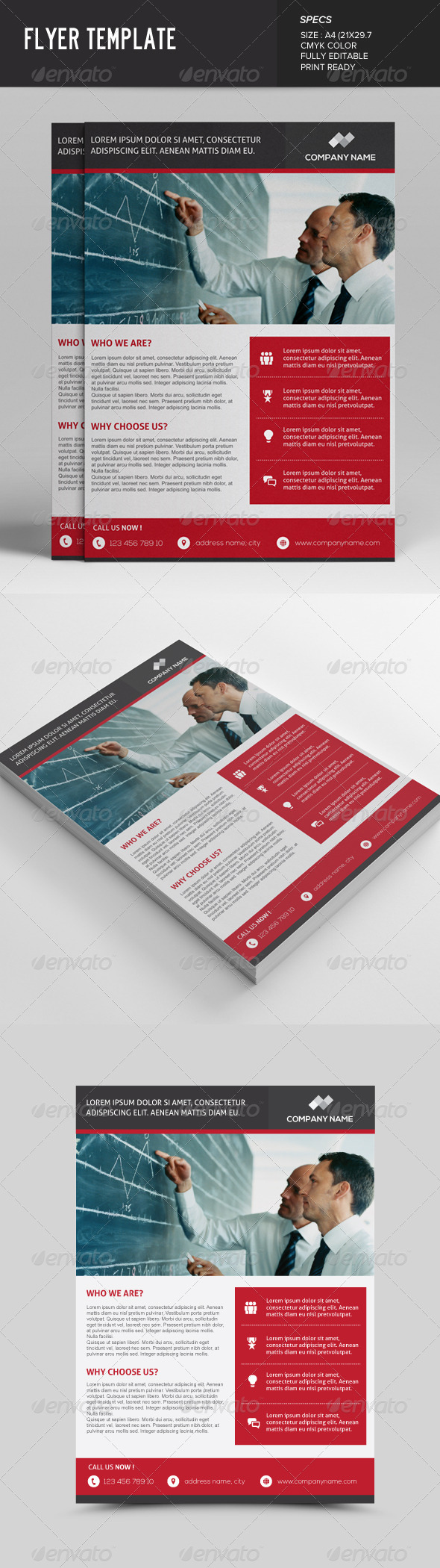 GraphicRiver Business Flyer Template 7598446