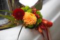 Flower decoration wedding car