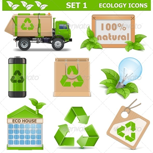 GraphicRiver Vector Ecology Icons Set 1 7599101
